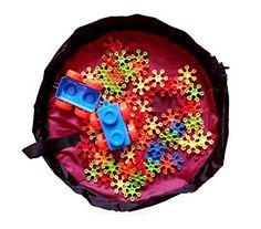 Agooding Kids Storage Bag Toy Organizer Bag, Red -- Be sure to check out this awesome product.