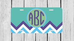Personalized Monogrammed Chevron Turqoise Purple by TopCraftCase