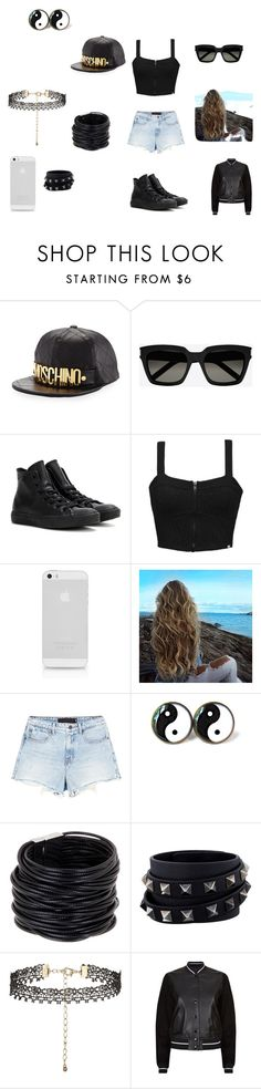 """summer hangout"" by joy-f-2003 on Polyvore featuring Moschino, Yves Saint Laurent, Converse, Element, Alexander Wang, Saachi, Valentino, New Look and rag & bone"