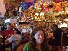 Daphne Bramlett, ageless magic woman at Olamendi's Mexican Restaurant in San Juan Capistrano.