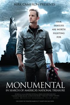 """Kirk Cameron Presents: Monumental - In Search of America's National Treasure (Our Families Are Worth Fighting For). A personal message from Kirk Cameron about his new movie, """"Monumental"""" Kirk Cameron, Great Movies, New Movies, Movies To Watch, Movies And Tv Shows, Amazing Movies, Movies Online, All Family, Family Movies"""