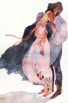 "Faramir and Eowyn from ""Lord of the Rings"" Art by s-u-w-i.tumblr.com"