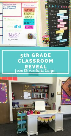 grade classroom decor and organization ideas! She walks you through her entire classroom with links to free resources and fun ideas to use with your students! First Year Teaching, Teaching 5th Grade, 5th Grade Teachers, 5th Grade Classroom, Middle School Classroom, Classroom Setting, Classroom Design, Science Classroom, Classroom Themes