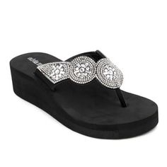 Shop for Olivia Miller 'Mariella' Black/Grey EVA and Polyurethane Wedge Sandals. Free Shipping on orders over $45 at Overstock.com - Your Online Shoes Outlet Store! Get 5% in rewards with Club O! - 21026811
