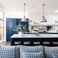 Cabinet Door Styles in 2018 – Top Trends for NY Kitchens Navy Blue Kitchen Cabinets | Home Art Tile Kitchen and Bath