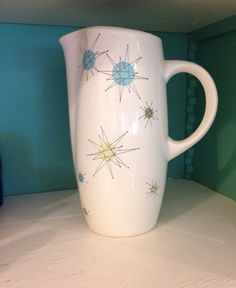 I want this! Mid Century Franciscan Starburst Atomic Pitcher by modernlogic, $55.00
