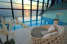 Ocean Front Indoor Pool, Malibu, California == yes please!!