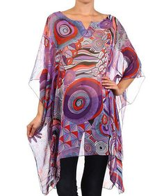 Love this Purple Sheer Mod Sidetail Tunic on #zulily! #zulilyfinds
