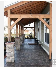 backyard porch ideas on a budget patio makeover outdoor spaces best of i like this open layout like the pergola over the table grill 26 ~ mantulgan. Metal Building Homes, Building A House, Building Ideas, Metal Homes, Building Plans, Building Design, Future House, Pole Barn Homes, Pole Barns