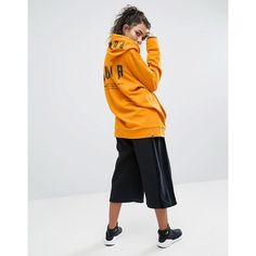 Puma Exclusive To ASOS Statement Oversized Hoodie (£51) ❤ liked on Polyvore featuring tops, hoodies, oversized hoodies, hooded pullover, puma hoodies, cotton hoodies and puma top