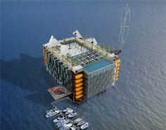 Reclaiming Oil Rigs as Oceanic Eco-Resorts