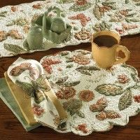 Butterfly Round Quilted Placemat