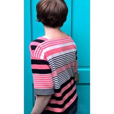 from finished. I enjoyed placing the stripes in this one. It's rather comfy in this viscose knit. I used some new Steam-a-seam lite tape to stick the hems before sewing and it was much easier to sew. Made a dent in my stash for Sailor, Tape, It Is Finished, Stripes, Comfy, Knitting, Sewing, How To Make, Instagram