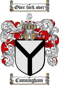 CUNNINGHAM FAMILY CREST -  CUNNINGHAM COAT OF ARMS gifts at www.4crests.com