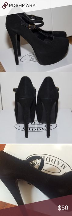 """Steve Madden Viktoree platform Pumps ▹Size: 8. but fit like a 7.5  ▹Measurements:  6"""" heel height  ▹Material:  suede  ▹Condition: Good condition. Only worn once for a few hours. Some suede marks. But you may be able to brush them away with a suede brush! Comes with original box Steve Madden Shoes Platforms"""