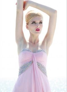 Pink Sweetheart Evening Dress with Fringe,  Dress, Pink Sweetheart Evening Dress with Fringe, Chic