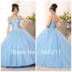 Glamorous Silver Sequins Beading Layered Tulle Skirt Ball Gowns Light Sky Blue Teenage Quinceanera Dresses Formal Gown ED181 $179.00very cinderella