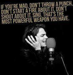 My voice is my best weapon... LOVE.