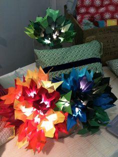 guirlande lumineuse fleur origami