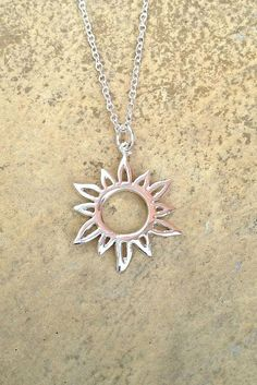Sun Necklace/ Silver Sun Necklace/ Hippie by AVBohoJewellery