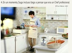 Suga cooking. Omg why is he such husband material