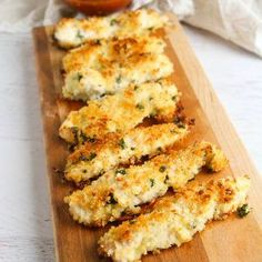 Baked Parmesan Crusted Chicken Recipe for Friday Night Finger Food, easily turned into Ranch Parmesan Chicken and oven baked, this recipe