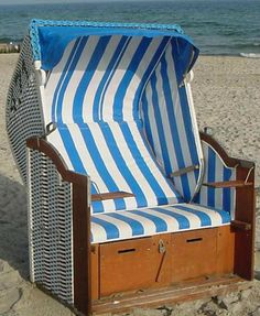 Germany's Cult Beach Chair, the Strandkorb http://www.bellaonline.com/articles/art177061.asp  -  It is a strange looking chair but for generations the wicker beach basket, a 'Strandkorb', once likened to an upright wash basket and originally designed for an aristocrat with rheumatism, has not only sheltered German beach goers from wind, rain and too much sun it has become a part of the country's culture.