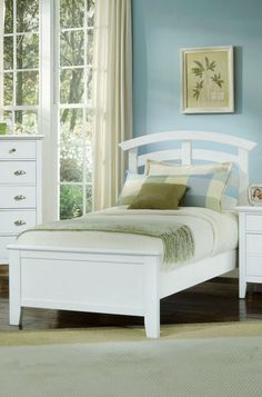 Twilight White Twin Arch Bed $479.99 Sku:129453 Dimensions:45Wx79Dx52H The Twilight collection has a simplistic look that makes it easily placed into a casual or a contemporary setting. The white finish creates a coastal mood with an open feeling. This collection has straight lines throughout with contemporary features making the Twilight the perfect blend of a casual style with a contemporary living atmosphere. Please visit our website for warranty and benefits.