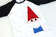Gnome Boys Raglan T Shirt Red Blue Garden van RebelandHeart op Etsy