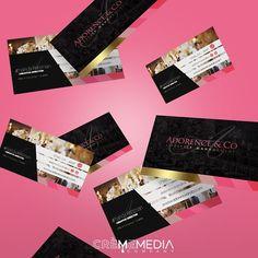 Logo + Bus. Card Development for Adorance & Co. #crememedia