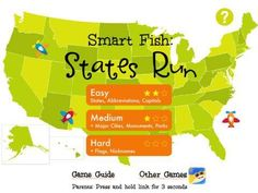 New educational app for kids - Smart Fish: States Run - learn United States geography in this fast-paced game for iPhone & iPad