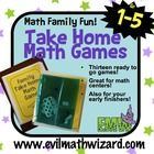 These thirteen math games promote the connection between families and school. These games are genuinely fun for the whole family (I am not kidding)...