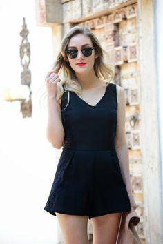 Blog Personal Style | Blog de moda | Street Style: Playsuit Black www.blogpersonalstyle.com