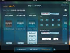 Somfy TaHomA HD iPad app (US version) - scene scheduler
