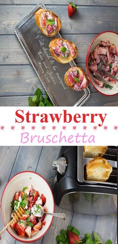 #Strawberry Bruschetta #recipe
