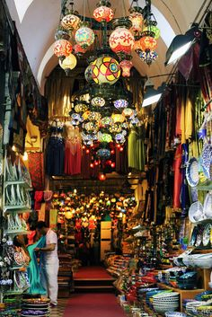 The Grand Bazaar in Istanbul, Turkey is the most visited tourist attraction in the world according to Yahoo Travel!