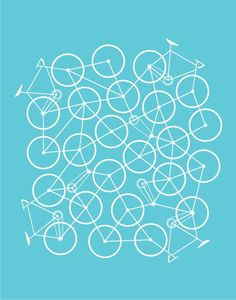 Bike Mess (Turquoise) by Brent Couchman