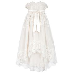 The chicest christening. My brother wore McQueen so have to upstage him. - Dolce & Gabbana long christening dress, $1,176; melijoe.com