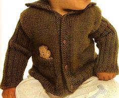 Suéter verde para un niño
