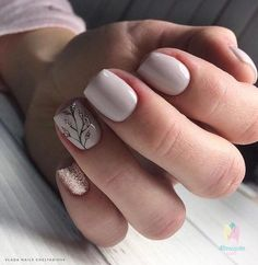 Маникюр | Ногти Gelish Nails, Nude Nails, Nails Polish, Acrylic Nail Designs, Nail Art Designs, Funky Nail Designs, Acrylic Nails, Hair And Nails, My Nails