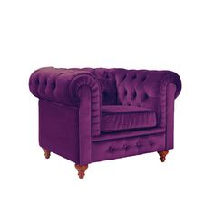 Features:  -Detachable legs.  -Legs screw-in and you're done.  -Soft velvet upholstery on a sturdy and durable hardwood frame.  Upholstered: -Yes.  Frame Material: -Wood.  Hardware Material: -Aluminum