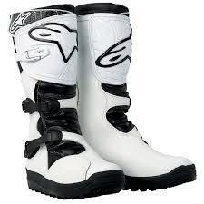 ALPINE STARS NO STOP WHITE TRIALS BOOTS | Bike boots, Boots