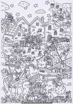 Discover recipes, home ideas, style inspiration and other ideas to try. Colouring Pages, Adult Coloring Pages, Coloring Sheets, Coloring Books, Saint Nicolas, Christmas Drawing, Winter Wonder, Christmas Colors, Challenge