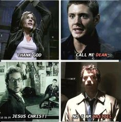 """Every time I think of when Cas says"""" No I'm Castiel"""" I laugh out loud. That's why I look insane"""