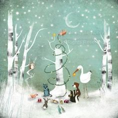 An Enchanted Christmas  open edition print by TheNebulousKingdom, $15.00