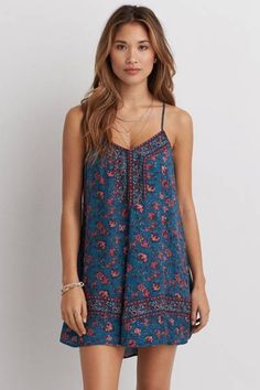 AEO Smocked Shift Dress by AEO   Take your look from day to night with boho-inspired details that go with just about anything.  Shop the AEO Smocked Shift Dress and check out more at AE.com.