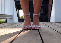 Sparkly Silver Zara Sandals
