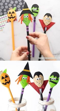 Halloween Arts And Crafts, Christmas Crafts For Kids To Make, Halloween Activities, Diy Halloween Decorations, Diy Crafts For Kids, Halloween Diy, Holiday Crafts, Fun Crafts, Halloween Pumpkins