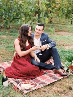 Engagement shoot picnic