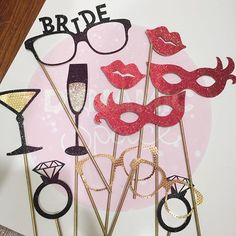 Party Props for the Bridal Party ❤️💛